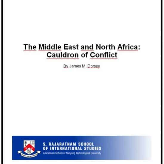 James Dorsey - The Middle East and North Africa: Cauldron of Conlifct